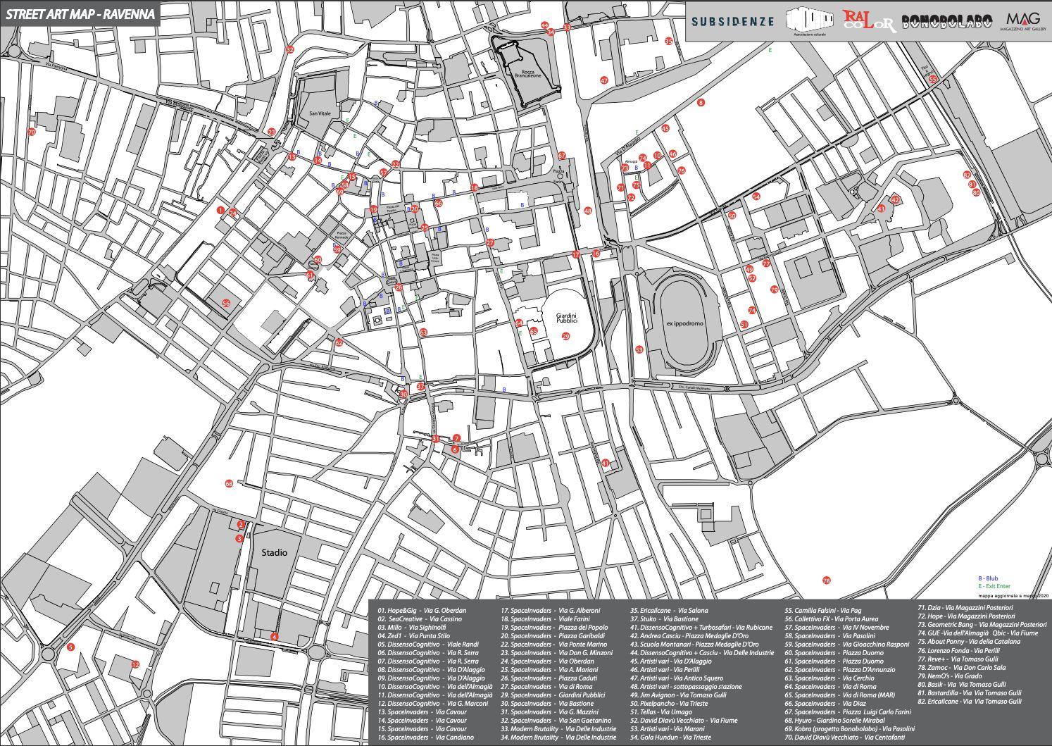 Street Art a Ravenna - Mappa Ufficiale